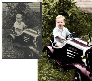 Little Boy Firetruck Retouch