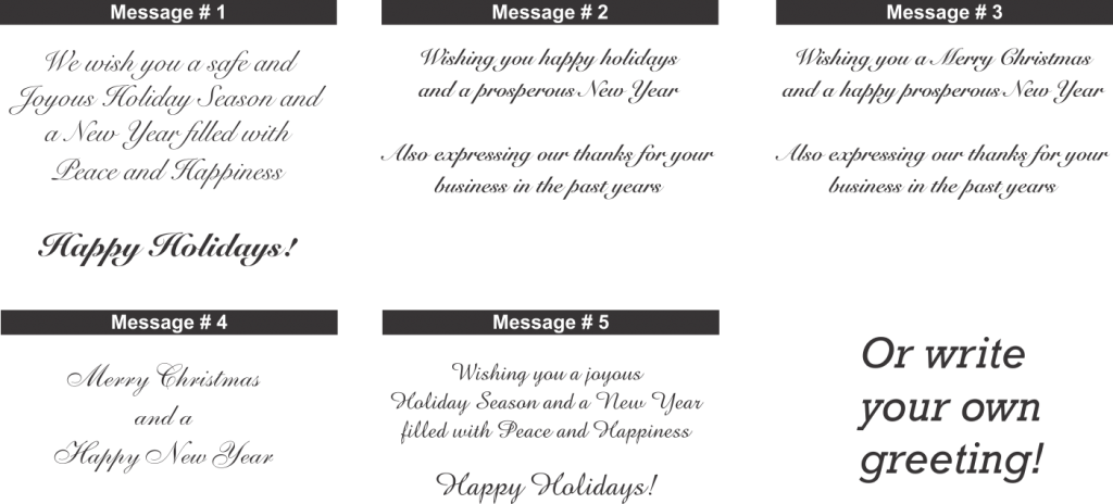 Christmas Card Message Example Holliday Decorations
